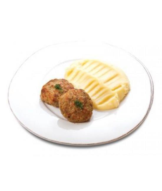 Биточки Сочные с  картофельным пюре