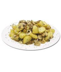 Горбуша по-ленинградски с грибами и рисом