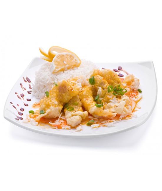 Минтай в-кляре с рисом