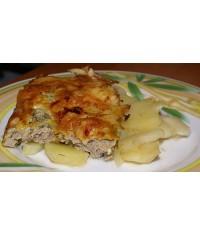 Мясо по-французски с отварным картофелем